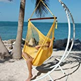 Jumbo Sized Yellow Weather Resistant Rope Hammock Chair