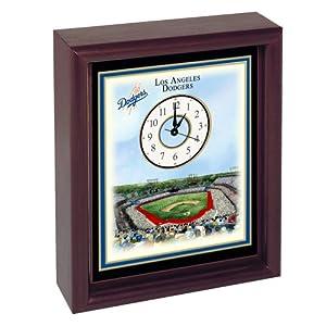 Los Angeles Dodgers Dodger Stadium Colorprint Desk Clock by Unknown