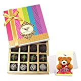 Whimsically Crafted Truffle Collection With Sorry Card - Chocholik Belgium Chocolates