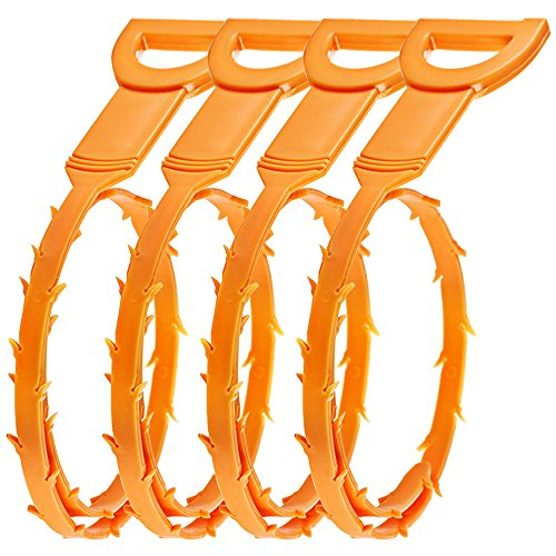 senhai-hair-drain-clog-remover-4-pack-drain-snake-equipment-auger-type-cleaning-tool