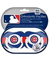 MLB Chicago Cubs Pacifiers, 2-Pack (Discontinued by Manufacturer)