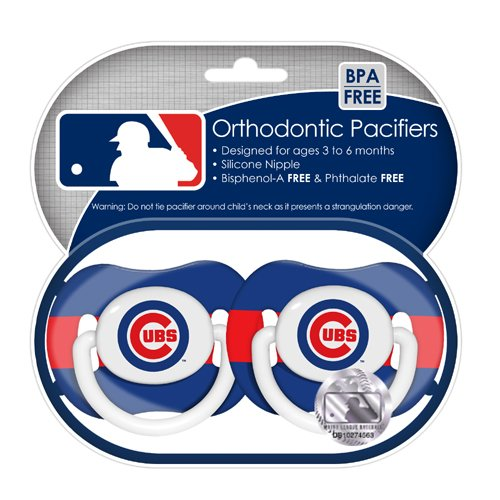 Mlb Chicago Cubs Pacifiers, 2-Pack front-1016686