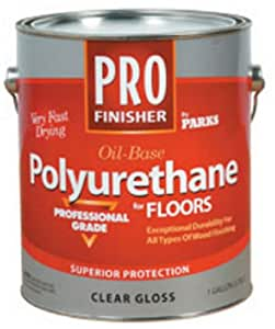 Rust-Oleum 130514 Parks Pro Finish Polyurethane Finish, Quart, Clear Gloss