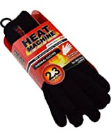 Mens GUARANTEED WARMTH Heat Machine 2.3 TOG RATED VERY HOT Gloves - BLACK