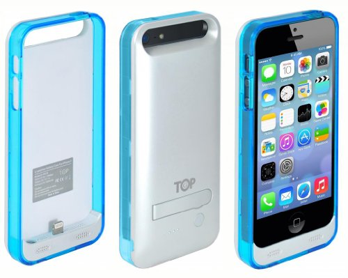 Special Sale TopG Lightning Box 2400 mAh External Protective Battery Case for iPhone 5s / iPhone 5 - MFI Apple Certified (Glossy Silver, Fits All Models iPhone 5S & iPhone 5)