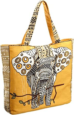 Echo Design Women's Elephant Tote, Khaki, One Size