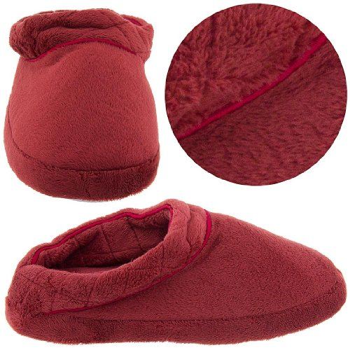 Image of Brick Red Clog Style Slippers for Women (B0041TZR7M)