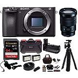 Sony Alpha a6500 Wi-Fi Digital Camera with (Body Only) w/ Sony SELP18105G E PZ 18-105mm F4 G OSS + 64GB Bundle