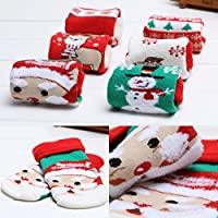 MEXUD Christmas Style Winter Toddler Thicken Baby Toddler Sock For Newborn Baby Boys Girls from MEXUD