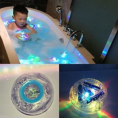 RISKER Bath Water LED Light Kids Waterproof Funny Bathroom Bathing Tub Toy from RISKER