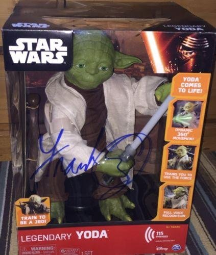 Frank Oz Signed Autograph Star Wars Legendary Yoda Official Action Fig