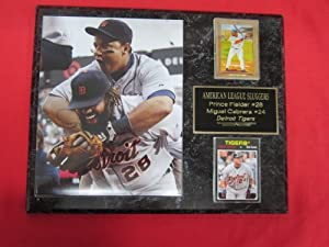 Miguel Cabrera Prince Fielder Detroit Tigers 2 Card Collector Plaque w 8x10 Photo! by J & C Baseball Clubhouse