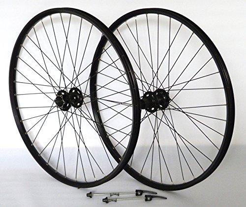 27,5 Zoll 650B Fahrrad Laufradsatz Pro Disc Hohlkammerfelge schwarz Shimano Deore XT756 schwarz Niro schwarz