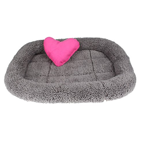 Emours Non-skid Bed Mat Cushion Padded Pet Bolster Bed with Toys for Small Dogs Cats Puppies