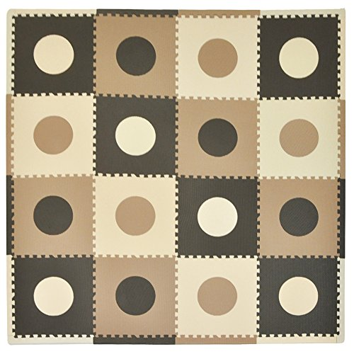 buy Tadpoles 16 Sq Ft Playmat Set, Taupe/Brown for sale