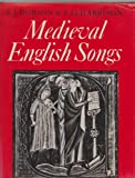 img - for Medieval English Songs book / textbook / text book