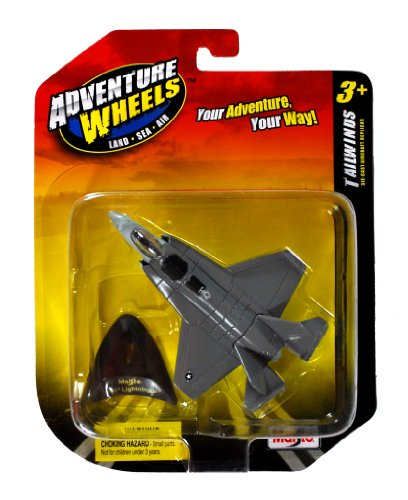 Maisto Adventure Wheels Land Sea Air Tailwinds Series 1:129 Scale Die Cast United States Military Aircraft - U.S. Stealth-Capable Military Strike Fighter Jet : F-35 Lightning II with Display Stand (Dimension: 4-1/2