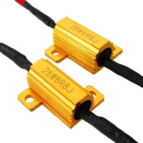 2X 25W Motorcycle Bike Turn Signal Light Lamp Blinker Flicker Flash Controller Load Resistor