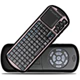 iPazzPort Mini Wireless Handheld Keyboard with IR Remote - Black