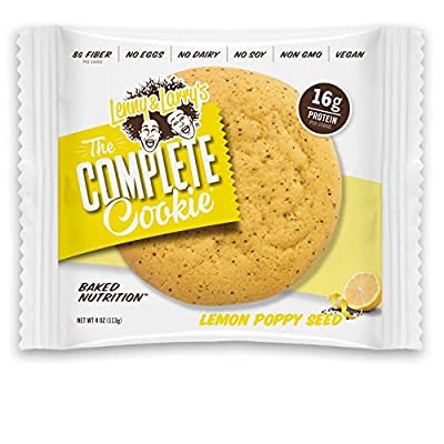 Lenny & Larry's The Complete Cookie, Lemon Poppy Seed, 4-Ounce Cookies (Pack of 12) from Lenny & Larry's