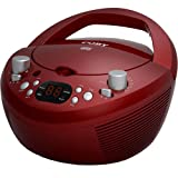 Coby CXCD251RED Portable CD Player with AM/FM Radio, Red