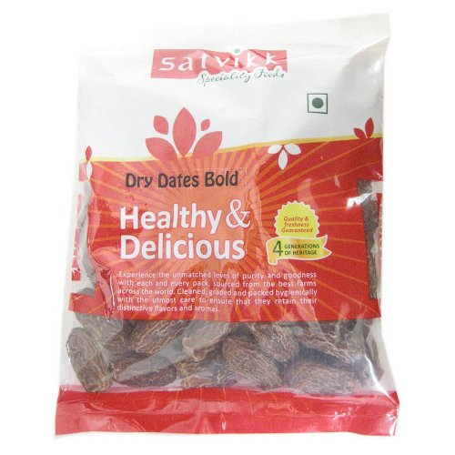 Satvikk Dry Dates Bold, 400g  available at amazon for Rs.70
