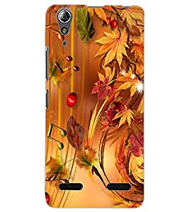 ColourCraft Beautiful Music Notes Design Back Case Cover for LENOVO A6000 PLUS