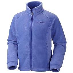 Columbia Baby Girls\' Benton Springs Fleece Jacket, Foxglove, 3-6 Months