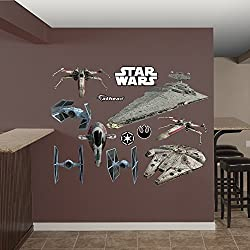 Fathead Star Wars Original Trilogy Spaceships Collection Real Decals
