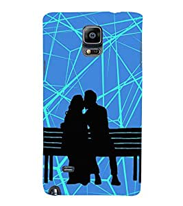 Kiss in Public Kissing 3D Hard Polycarbonate Designer Back Case Cover for Samsung Galaxy Note 4 N910 :: Samsung Galaxy Note 4 Duos N9100
