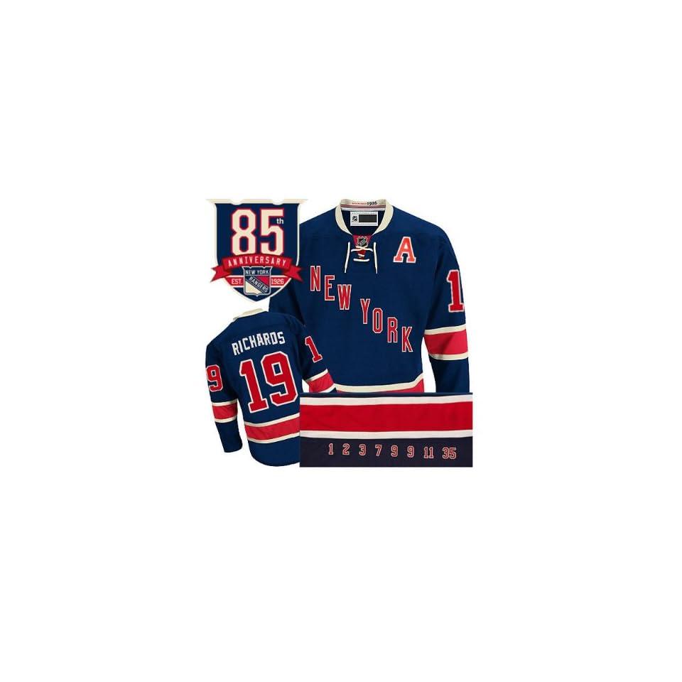NHL Gear Brad Richards  19 New York Rangers Third Blue Jersey Hockey Jerseys  (Logos 656281f20