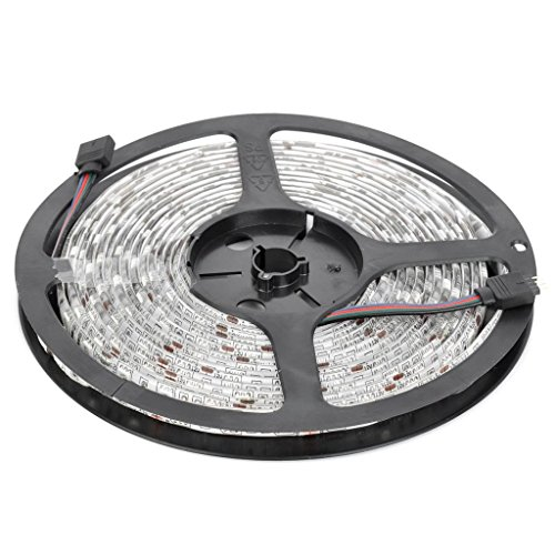 Dn 5050 Waterproof Rgb Led Strip Light Kit 16.4 Feet 300 Leds 24 Key Remote Controller 72W Eu Power Supply