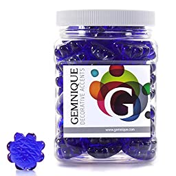 Gemnique Decorative Glass Shapes - Sunflowers (Cobalt Blue Luster, 48 oz.)