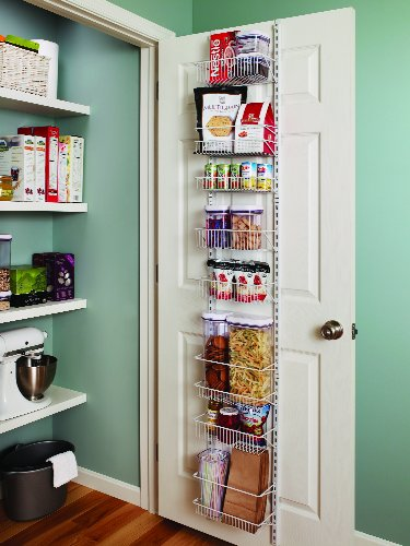 Closetmaid 1231 adjustable 8 tier wall and door rack 12 for 12 wide door