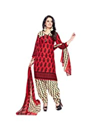 Sky Fashions Women's Multi Cotton Top Un-stiched Salwar Suit (SYFW0035)