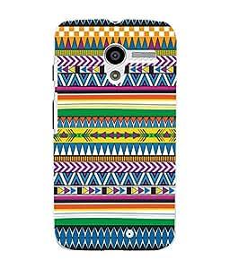 Fuson 3D Printed Tribal Pattern Designer Back Case Cover for Motorola Moto X - D975