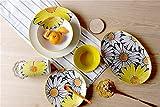 Moldiy 17-Piece Dinnerware Set,Sunflower,Orange