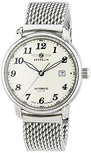 Zeppelin Men's Wristwatch XL LZ127 Graf Automatic Analog Stainless 7656M5