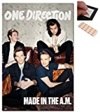 Bundle - 2 Items - One Direction Made In The AM Poster - 91.5 x 61cms (36 x 24 Inches) and a Set of 4 Repositionable Adhesive Pads For Easy Wall Fixing