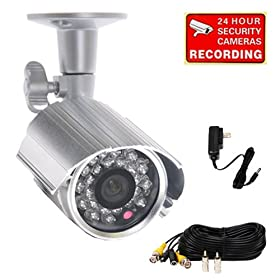 96ddcdffbd6 VideoSecu Outdoor Bullet CCTV Security Camera 420TVL Day Night Vision Color  CCD 24 IR Infrared LEDs Weatherproof Wide View Angle for Home Surveillance  ...