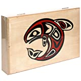 Alaska Smokehouse Smoked Salmon Fillet in Wood Gift Box, Assorted Designs, 8-Ounce Each (Pack of 2)