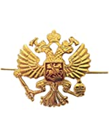 Russian Military Army Imperial Eagle Crest Hat Pin Cap Badge Kokarda