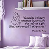 Fungoo large winnie the pooh wall quote art sticker