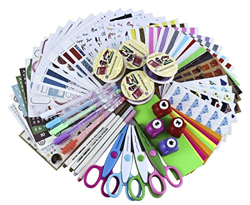 SiCoHome Scrapbooking Supplies Scrapbook Kit Scrapbooking Paper Scrapbooking Stickers DIY Photo Albums Craft Supplies And Diary Decor Scrapbook Accessories(Deluxe Set) (Cute Number Stickers compare prices)