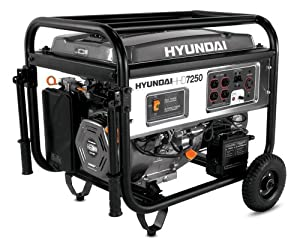 Hyundai HHD7250 7250-Watt 4-Stroke Portable Heavy Duty Generator With Electric Start