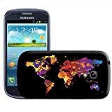 Fancy A Snuggle Paint Splash World Map Modern Art Clip-on Hard Back Cover for Samsung Galaxy S3 Mini i8190