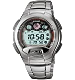 Casio Men's W755D-1AV Classic Silver-Tone Band Sport Watch