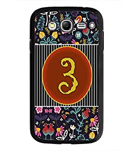PrintDhaba Numerology Number 3 D-3089 Back Case Cover for SAMSUNG GALAXY GRAND I9082 (Multi-Coloured)