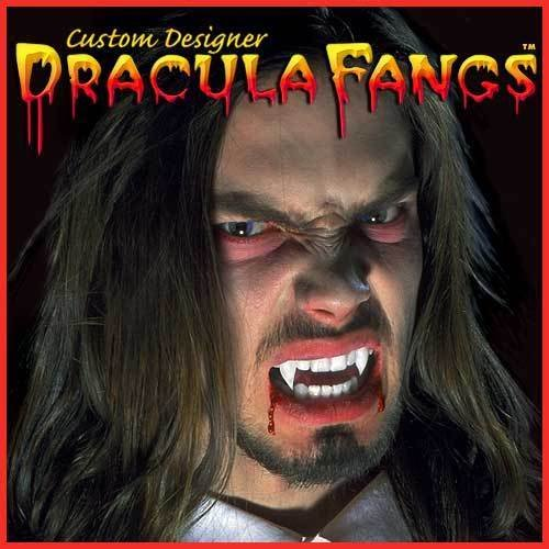 [Twilight True Blood Vampire Dracula Fangs Teeth Medium Large Werewolf Custom Fit ( You can feel confident that when you wear these sexy Fangs they will complete whatever look you are going for!] (Custom Inflatable Costumes)
