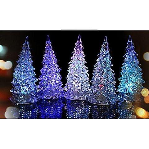 Christmas Tree Ice Crystal Colorful Changing LED Desk Decor/Table Lamp Light
